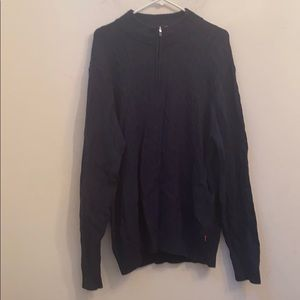 IZod navy blue 1/4 zip sweater